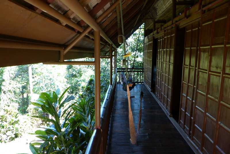 dorms made from local bamboo at lilok farm